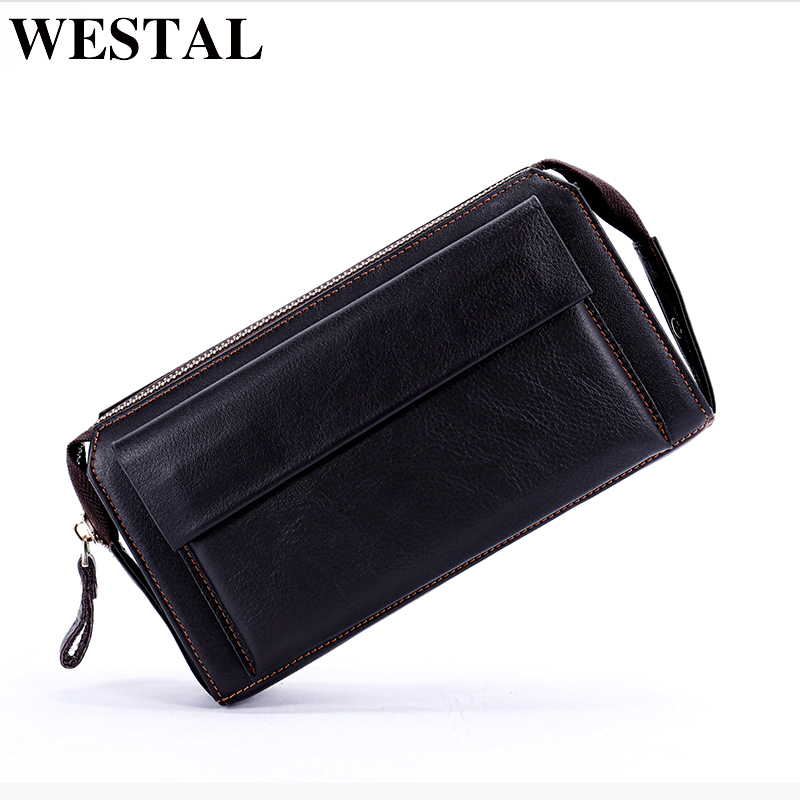 WESTAL Genuine Leather Men's Wallets for Credit Card Wallet Male Holder Clutch Male bags Coin Purse Men Genuine leather new 9032 westal genuine leather wallet male clutch men wallets male leather wallet credit card holder multifunctional coin purse 3314