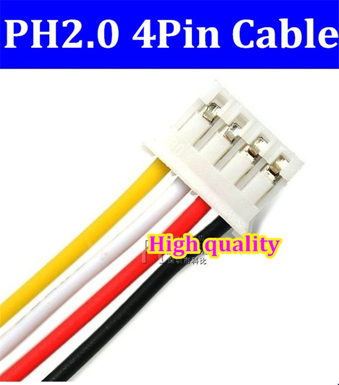 High quality  JST 2.0mm PH2.0 PH 2.0 4pin PH-4p connector with cable 100mm wire 24AWG цена