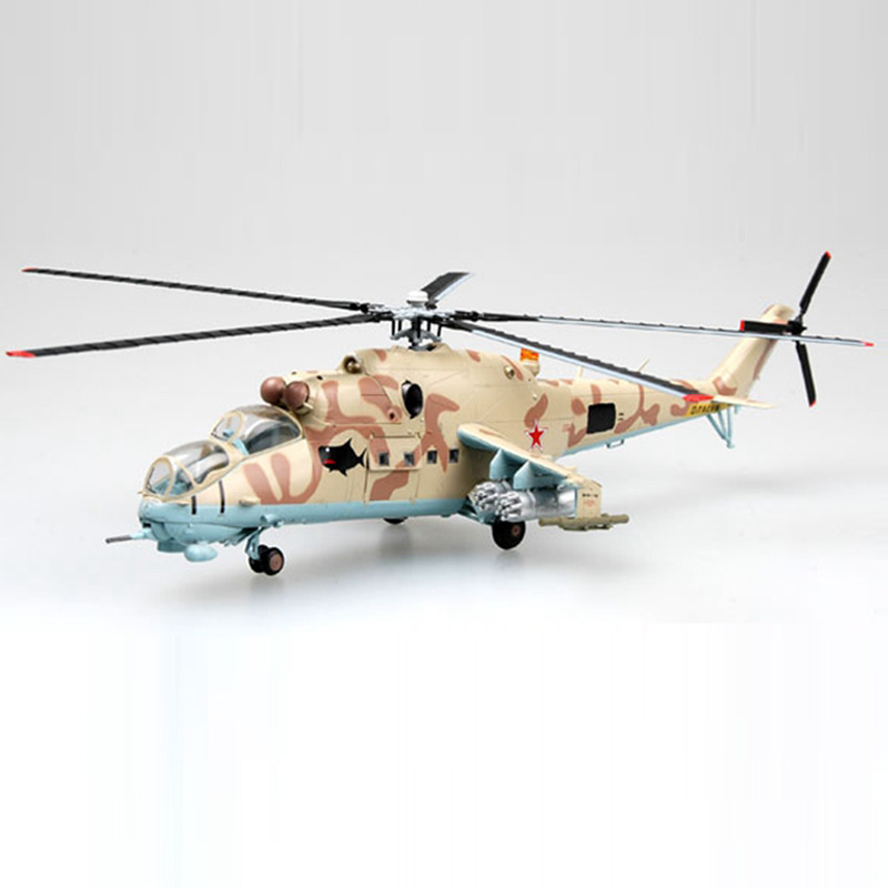 Easy Model Air Force Mi-24 Hind Helicopter 1/72 Scale Finished Model Toy For Collect Gift 37035