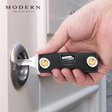 LLavero de aluminio moderno, billetera llave inteligente, bricolaje, organizador de llaves