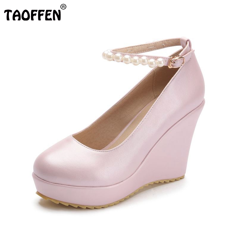 women wedge high heel shoes platform ankle strap quality footwear brand fashion heeled pumps heels shoes size 34-39 P17455 women s valentine wedge high heeled