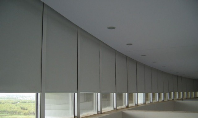 motorized roller shades 20 m wide 05 18m hight sunscreen fabric - Motorized Roller Shades