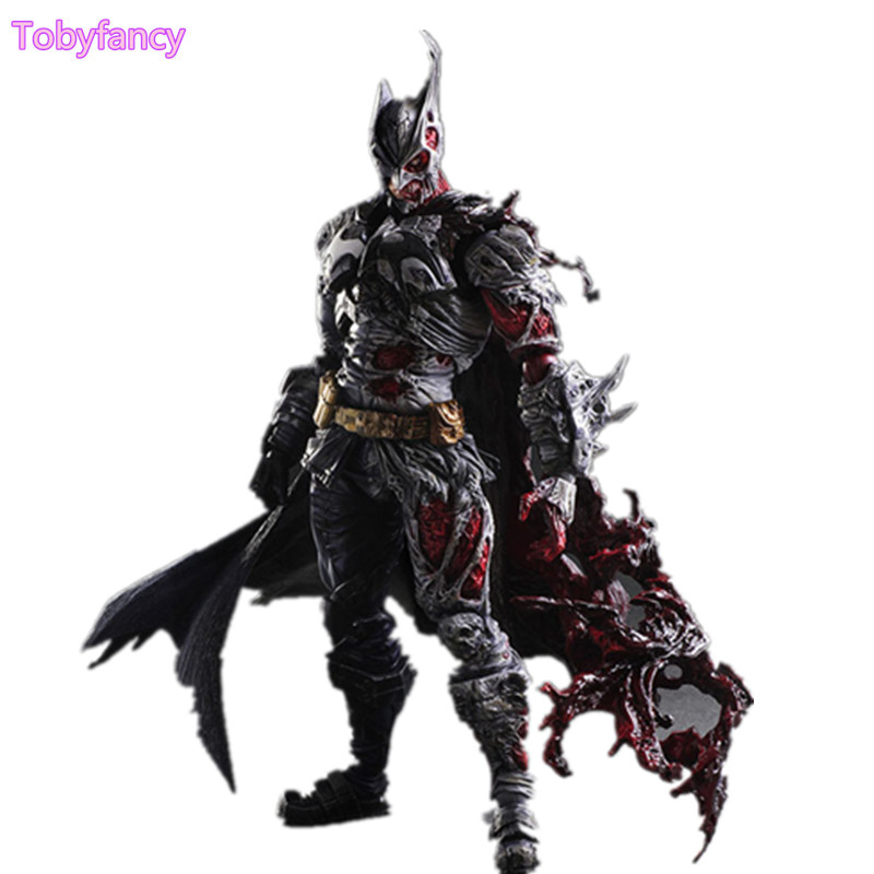 Batman Play Arts Kai Toy Two-Face 270mm Anime PVC Action Figure Batman Playarts Kai Rogues Gallery Figurine Toys play arts kai dc comics batman rogues gallery two face pvc action figure collection kids toys figuras anime juguetes 29cm