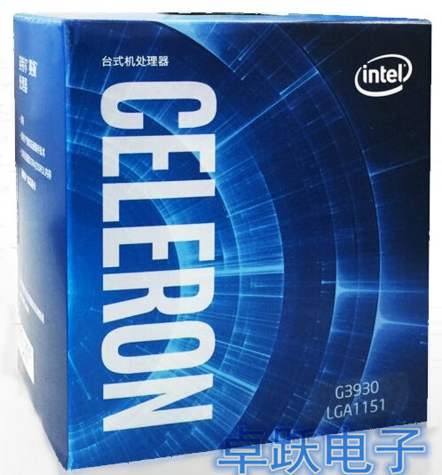 Процессор Intel Celeron G3930 LGA1151, 14 нанометров, двухъядерный, 100% рабочий процессор для настольного ПК