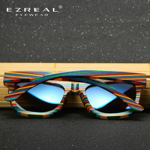 Image 4 - EZREAL Polarized Wooden Sunglasses Men Bamboo Sun Glasses Women Brand Designer Original Wood Glasses Oculos de sol masculino