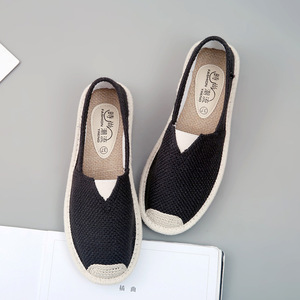 Image 5 - 2018 קיץ פשתן שטוח נעלי נשים קל משקל לנשימה נעלי דייג גבירותיי רך מזדמן פנאי נעליים להחליק על נעליים עצלנים