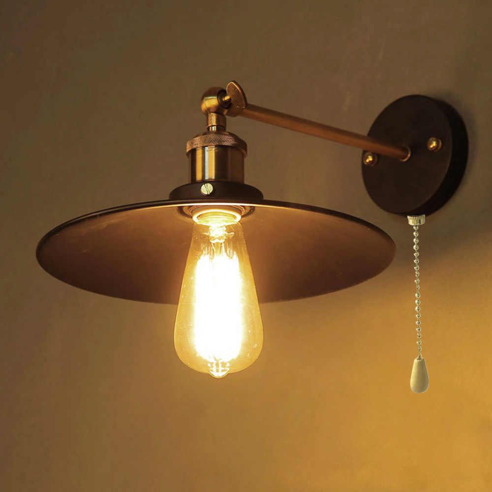 Винтажная железная настенная лампа Эдисона с выдвижным выключателем в американском стиле, лофт светильник для гостиной, бара, столовой, настенный светильник s, бесплатная доставка