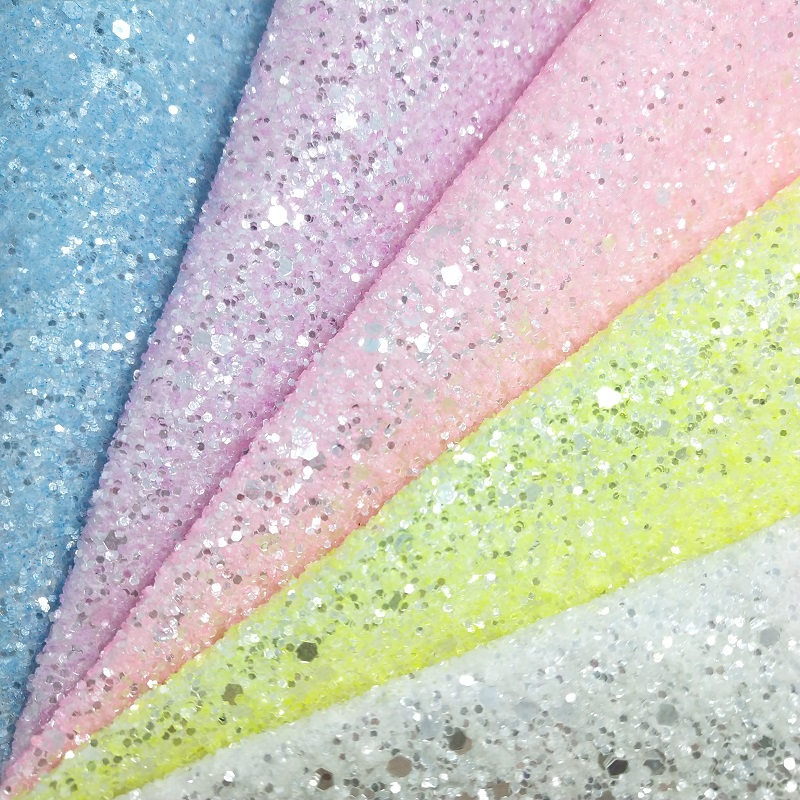 1PCS A4 SIZE 21X29cm Alisa Glitter Vinyl For Bows, Crystal Chunky Glitter Leather  For DIY J13B