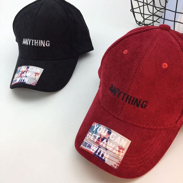 Vintage Letter Baseball Cap Women Black Fascinator Hats Corduroy Snapback  Caps Men Summer Hat WH367 113984362ed
