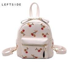 LeftSide 2017 мини рюкзак симпатичная рюкзаки для девочек-подростков обратно мешок женщины puleather небольшая вышивка сумки дети сзади сумки