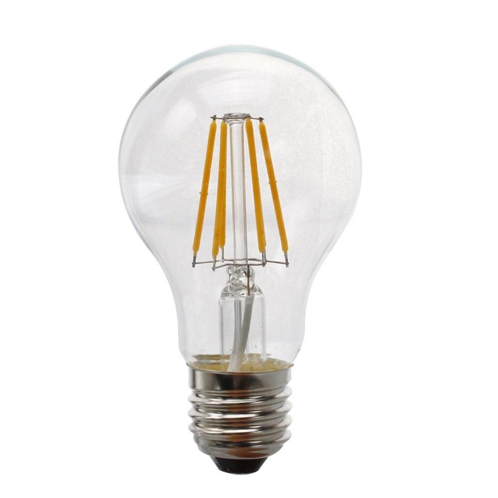 Vintage edison bulb old fashioned lamp classic a60 led 2w or 4w - Vintage Led Filament Bulb A19 6w 4w Led Light Bulb Medium Screw E27 Base Frosted Led Edison Bulb 60w Equivalent 120vac