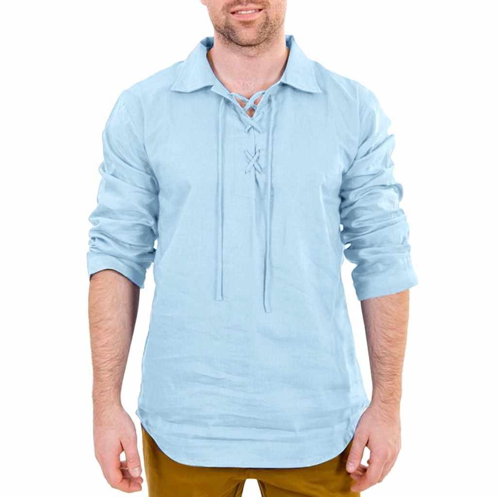 純粋な黒メンズシャツ ropa やつ夏カジュアルリネンと綿長袖トップブラウス男性スリムフィット Camisas デ hombre