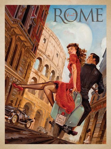 Vintage Retro Rome, Italy Travel Photo SILK POSTER Decorative Wall Painting 24x36inch