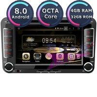 Roadlover Android 8,0 автомобильный dvd плеер для VW универсальный Passat Golf Lamando Touareg Jetta Lavida Santana EOS Стерео gps навигация