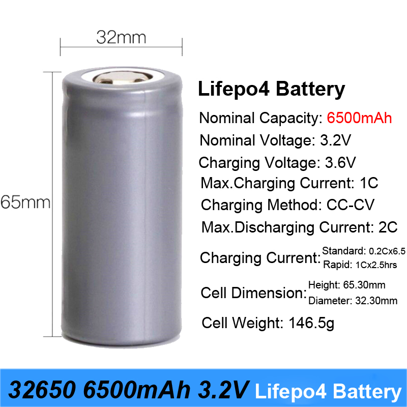 32650 3.7V Rechargeable 6500mAh Li-ion Batteries Battery For LED Flashlights Remote Control Toys Emergency lights Backup Power