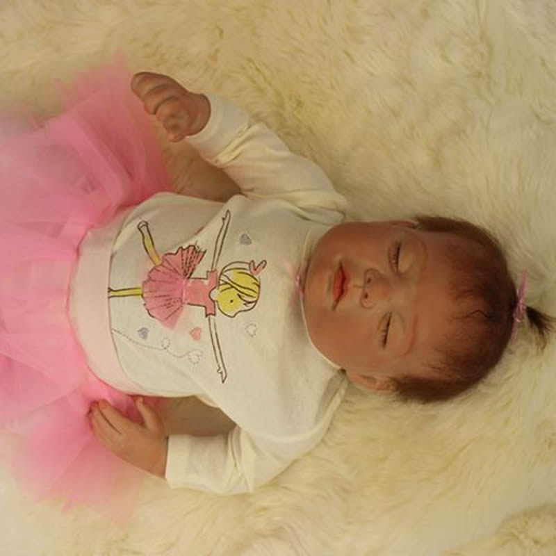 Lovely 20 Inch Reborn Dolls Sleeping Princess Girl Babies Lifelike Silicone Baby Toy With Rooted Mohair Kids Birthday Xmas Gift top selling og evkin 3k weave bb386 carbon road bike frame aero carbon bicycle frameset 49 52 4 56cm