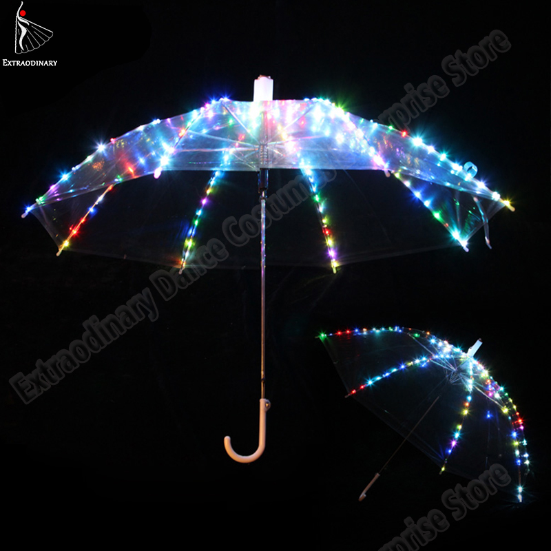 A luminous umbrella. A small LED bulbs will originally decorate your umbrella.