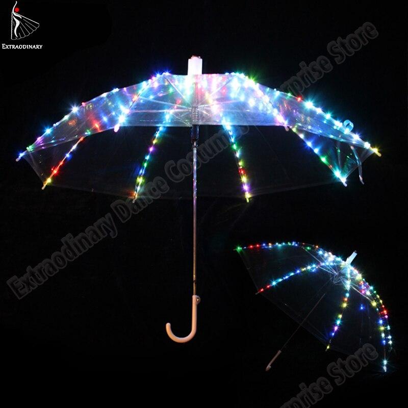 Novas mulheres dança do ventre led luz guarda-chuva palco adereços como favolook presentes traje acessórios dança led 4 cores