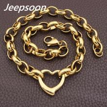 Offres Spéciales mode en acier inoxydable bijoux Joyas coeur collier chaîne de haute qualité Jeepsoon NGEGAOBG