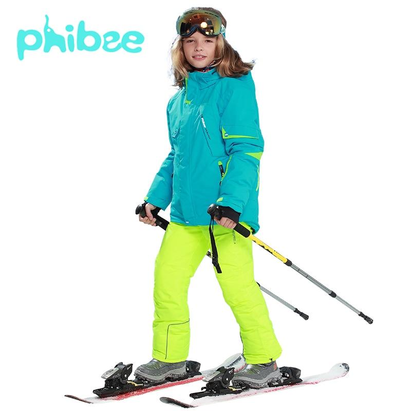 Phibee Ski Suit Baby Girl Clothes Warm Waterproof Windproof Snowboard Sets Winter Jacket Kids Clothes Children ClothingPhibee Ski Suit Baby Girl Clothes Warm Waterproof Windproof Snowboard Sets Winter Jacket Kids Clothes Children Clothing