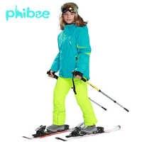 Traje de esquí Phibee ropa de bebé niña caliente impermeable a prueba de viento Snowboard Sets chaqueta de invierno ropa para niños