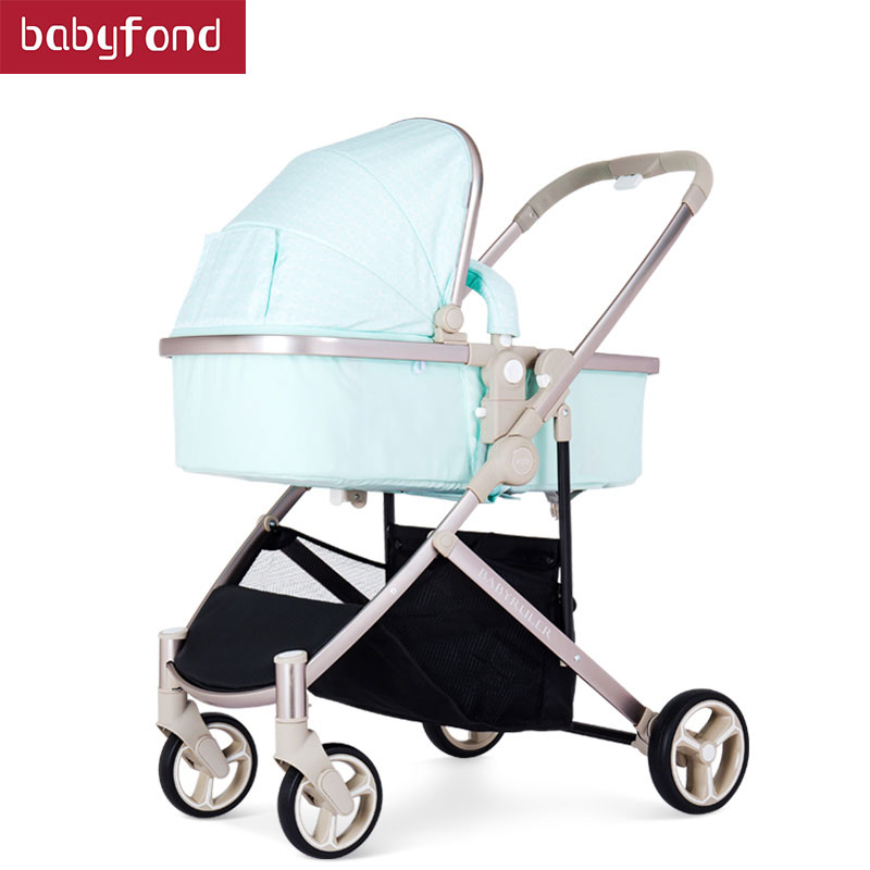 BABYRULER high-profile baby stroller kids trolley can sit one-way two-way one-click fold BB carriage polaris one click 26f
