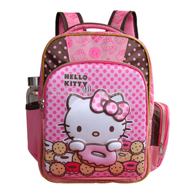 99e5bd040dbb Online Shop 3D Hello Kitty Pink Girls School Bag With Pencil Case Set For  Kids Children Kindergarten Preschool Primary School Backpack Bags