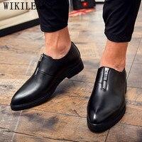 dress men shoes loafers oxford shoes for men office shoes gents shoes men elegant black wedding footwear schuhe herren clasik