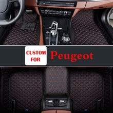 New Custom Fit Coches Para Peugeot 206 207 2008 301 307 308sw 3008 408 4008 508 Rcz Right Hand Drive Car Styling alfombra