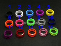 2015 ear stretchers wholesale mix color size acrylic body jewelry piercing screw fit ear plug flesh tunnel ear gauges expander