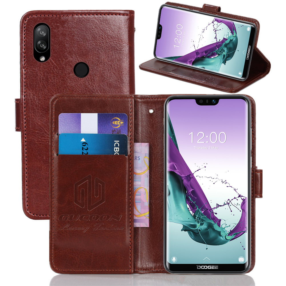GUCOON Wallet-Case Phone-Bag-Shield Y7-Cover Classic Doogee N10 Vintage For S40 Y8c/Y7-cover/Pu-leather/Vintage