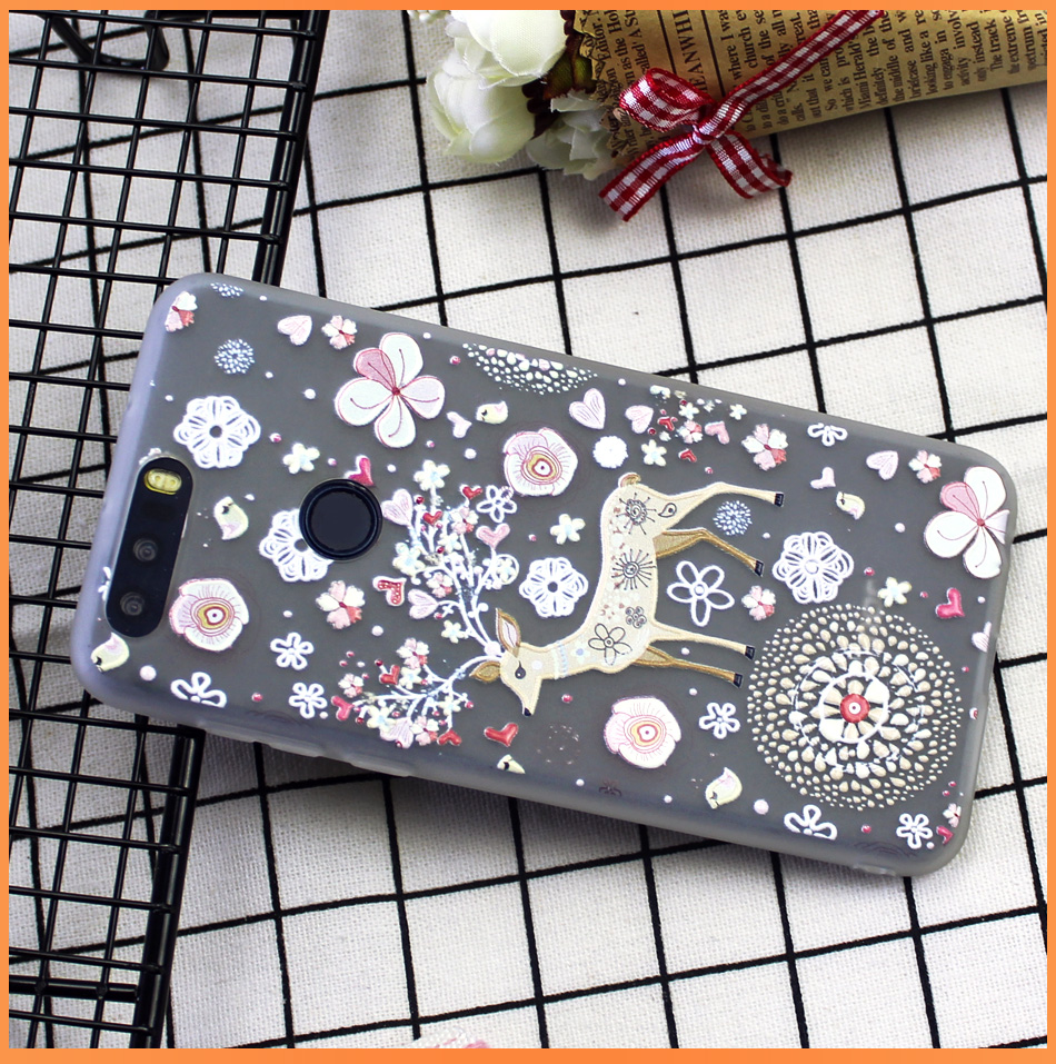 !ACCEZZ Soft Funny Cartoon Protective Back Cover Case For Huawei P9 Mate 89 Honor 78 Case Bumper TPU Painting Shell Funda Capa (17)