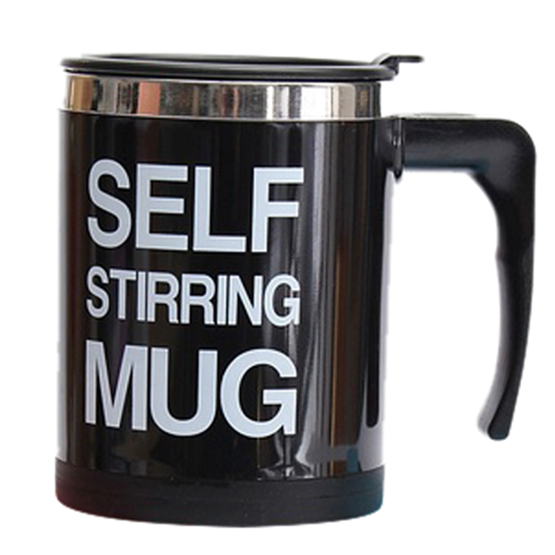 Top Sale Stainless Electric Lazy Self Stirring Mug Auto Mixing Tea Coffee Cup Office Home Blenders 350ml electric protein shaker auto stirring mug blender lazy self stir tornado nutrition mixer bottle cup fitness portable