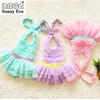 3colour Swimsuit Girls One Piece Swimwear Children Swimming Suit Little Mermaid Children S Swimsuit Solid Kids