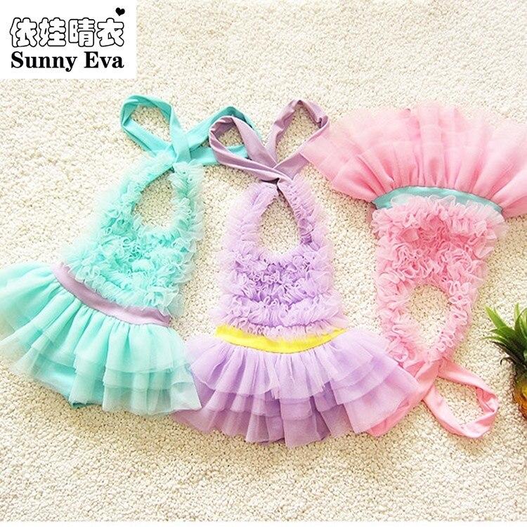 sunny eva swimsuit girls one piece swimwear children swimming suit little mermaid Children s swimsuit solid