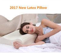 Breathable Pillow Nature Latex Neck Pillows Cervical Health Care Orthopedic Latex Neck Foam Pillow Bedding Sleep