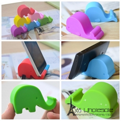 Free shipping 12pcs/lot Elephant SmartPhone Stand Rack Holder Mount 6 colors high quality PVC toys <font><b>phone</b></font> <font><b>accesories</b></font> party favors