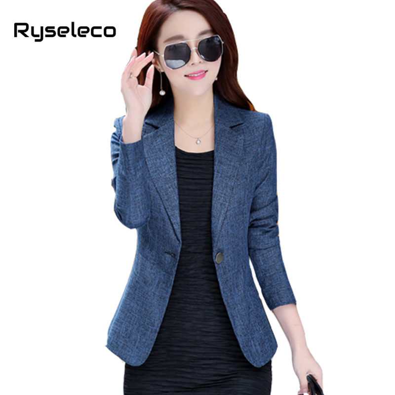 Women S Candy Color Lapel One Button Office Jacket Female Plus Size Casual Business Work Blazer
