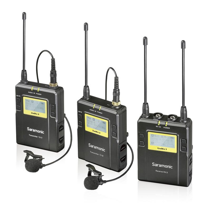 Saramonic UWMIC9 вещания UHF камера беспроводной петличный микрофон системы передатчики и приемники для DSLR камеры и видеокамеры
