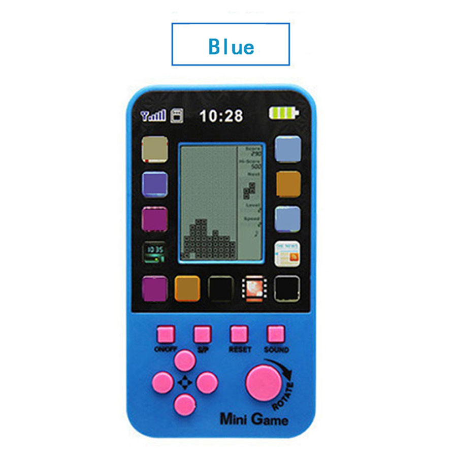 Classic Tetris Game Console Portable Mini Childhood Handheld Game Players Children Kid  Toys Game Consoles Wholesale