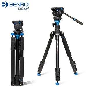 Image 2 - Benro 三脚 A2883FS4/A1883FS2C 写真カメラビデオヘッド一脚油圧ダンピングヘッド