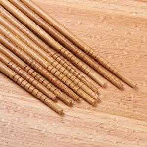 5 пар палочек для еды ручной работы, набор инструментов в подарок, японские палочки для еды, палочки из натуральных материалов, стильный бамбуковый Набор для кухни, дома и отеля