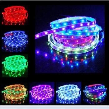 WS2801 DC5V 32 LEDs/M mágica de Color LED 5050 RGB tira de pantalla de matriz de píxeles DIY impermeable