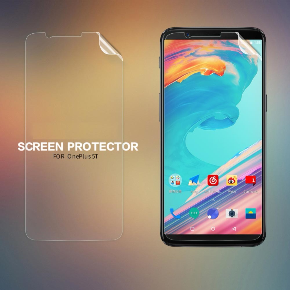 "Nillkin Oneplus 5T screen protector 6.01"" Anti-fingerprint hi-clear / matte screen protector protective film for Oneplus 5T"
