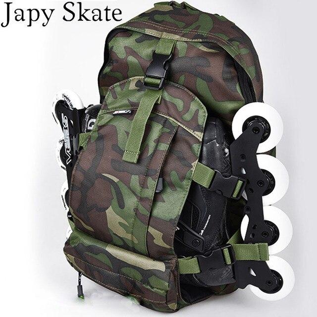 1f600971ba0 Japy Skate Professionele Schaatsen Rugzak Camouflage SEBA Schaatsen Zak  Rolschaatsen Tas Atletisch Camping Rugzak Gratis Verzending