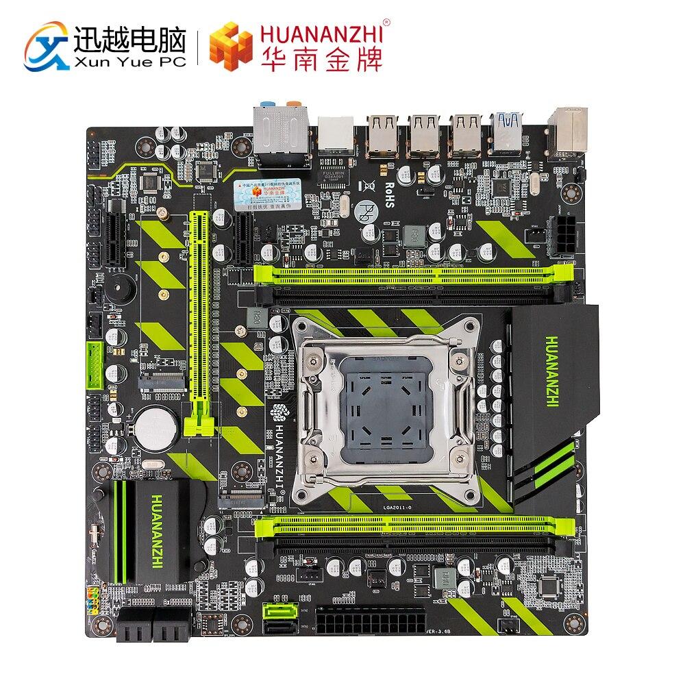 Huanan zhi X79-ZD3 placa-mãe para intel lga 2011 e5 1650v2 2650v2 2680v2 2678v3 ddr3 1333/1600/1866 mhz 64 gb m.2 nvme matx