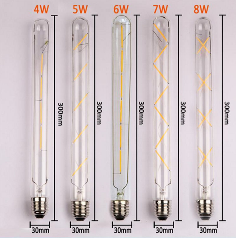 5PCS E27 Led Bulb 4W 5W 6W 7W 8W Vintage Edison AC 220V T30 COB LED Filament Light Retro Bulb e27 led edison bulb cob 2w 3w 4w 6w vintage edison led filament light ac 220v t110 t185 t300 chirstmas retro led light bulb
