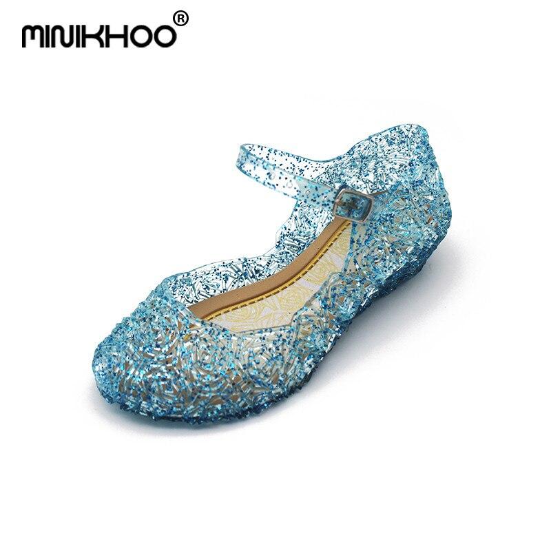Mini Melissa Snow Princess Crystal Sandals Hollow Mini Melissa Jelly Sandals Breathable Melissa Baby Crystal Shoes 15.5cm-20.5cm