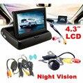 Hot 4.3 Monitor de Visão Traseira Do Carro Sem Fio Kit Sistema de Câmera de Segurança Do Carro de Estacionamento Car Styling Varejo & Atacado Frete Grátis