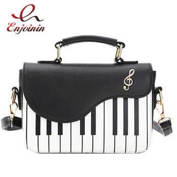 Cute Piano Pattern Fashion Pu Leather Casual Ladies Handbag Shoulder Bag Crossbody Messenger Bag Pouch Totes Women's Flap - DISCOUNT ITEM  50% OFF All Category